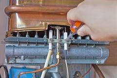 Provea de gas el calentador de agua Imagen de archivo