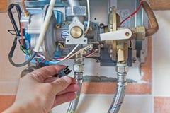 Provea de gas el calentador de agua Imagen de archivo libre de regalías