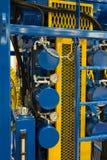 Provea de gas la estación y la tubería de medición en la central eléctrica fotografía de archivo libre de regalías