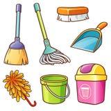 Proveedor de la limpieza stock de ilustración