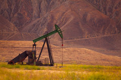Proven oil field at the foot of USA mountains Royalty Free Stock Images