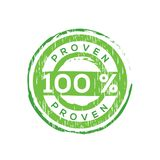 100% proven  vector rubber stamp Stock Images