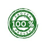100% proven  vector rubber stamp Stock Photo