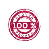 100% proven vector rubber stamp. Label design ready made template Vector Illustration