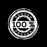100% proven vector rubber stamp. Label design ready made template Royalty Free Illustration