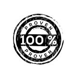 100% proven  vector rubber stamp Royalty Free Stock Image