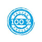 100% proven  vector rubber stamp Royalty Free Stock Photography