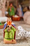 Provencal圣诞节一个圣人的小儿床形象 免版税图库摄影