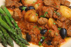 Provencal Beef Stew with Asparagus Stock Image