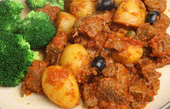 Provencal Beef Stew with Broccoli Stock Images