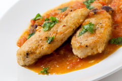 Free Provencal Chicken Breasts Angled Stock Images - 46521734