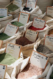 Provencal herbs. On a local market in France royalty free stock images