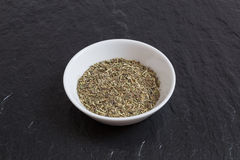 Provencal herbs in a bowl on a slate Stock Photography