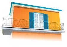provencal lantligt sydligt för arkitekturhus stock illustrationer
