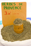 Provencal spices. Street market in Castellane, Provence, France royalty free stock photo