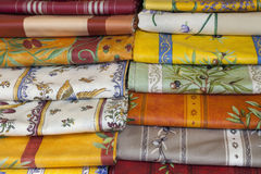 Provencal style napkins (Provence,France) Royalty Free Stock Image
