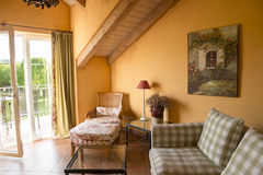 Provencal styled Hotel Room Royalty Free Stock Photography