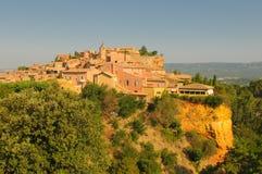 Provencal village of Roussillon Stock Photos