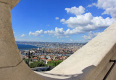 Marseille panorama - south France. Provence Côte d'Azur, France - view on Marseille old port (Vieux port) and the center of the city from the height of the Stock Photos