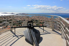 Marseille panorama on sea coast, south France Royalty Free Stock Images