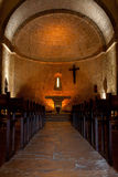 Provence church. Interior of the church of Tourtour village in Provence, France Royalty Free Stock Photos