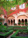 Provence cloister. Cloister of Saint-Paul-de-Mausole in the village of Saint-Remy-de-Provence Royalty Free Stock Photos