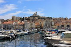Provence Cote d'Azur, Francja, Marseille Stary port - Obraz Royalty Free