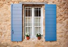 Provence-Fenster Lizenzfreie Stockfotos