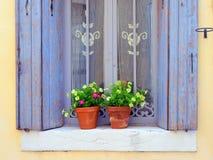 Provence, France.  Open window Stock Photos