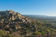 Provence-Gipfeldorf Stockbilder