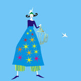 Provence girl Royalty Free Stock Image