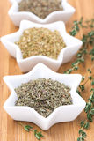 Provence herbs - thyme, oregano and basil, selective focus Stock Photography