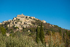 Provence hilltop village. Hilltop village of Gordes in Provence, France Royalty Free Stock Photo