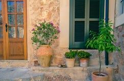 Provence house facade. Provence street medieval house facade Stock Photos