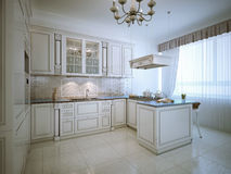 Provence interior of luxury kitchen Royalty Free Stock Images