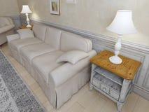 Provence interior with sofa Stock Photos