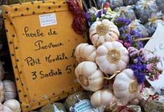 Provence-Knoblauch und Gewürze Stockfoto
