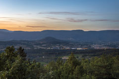 Provence landscape at sundown Stock Photography