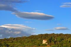 Provence lantligt landskap, Frankrike Arkivbild