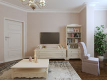Provence living room design Royalty Free Stock Photos