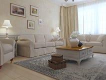 Provence lounge interior Stock Image