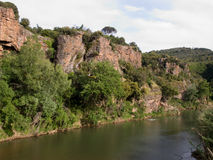 Provence Mountain Landscape Stock Photo
