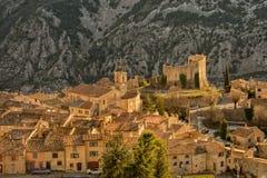 Provence mountain village on saint paul de vence road Stock Images