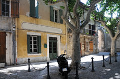 Provence. One of the beautiful typical streets in Provence. Here a street in Villeneuve Lez Avignon Royalty Free Stock Photography