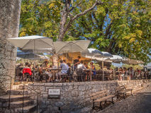 Provence outdoor restaurant Stock Photography
