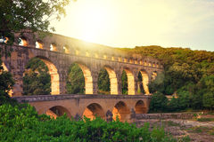 Provence. Pont du Gard in Provence, France Stock Image
