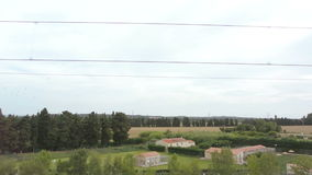 Provence seen from fast train