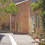 Provence, street in village. France. Royalty Free Stock Photos
