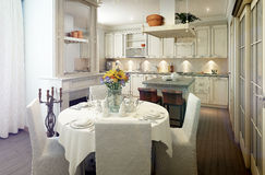Provence style kitchen interior, dining room Stock Photography