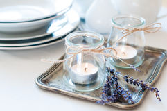 Provence style table setting Stock Images